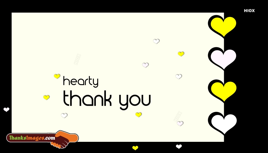 Hearty Thank You Images
