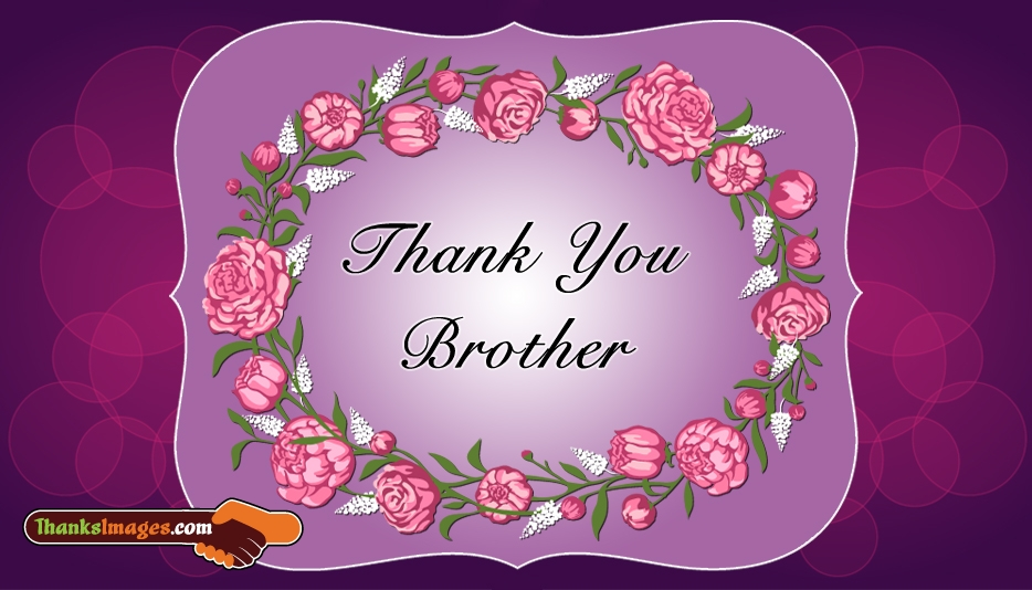 Thank You Brother @ ThanksImages.com