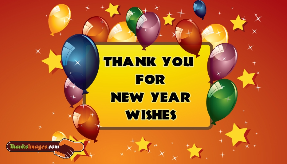 Thank You For New Year Wishes - Thanks Images for Newyear