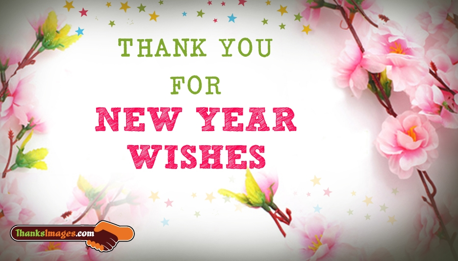 Thank You for New Year Wishes - Thanks Images for Friends and Family