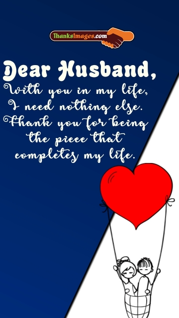 Thank You Husband For Everything