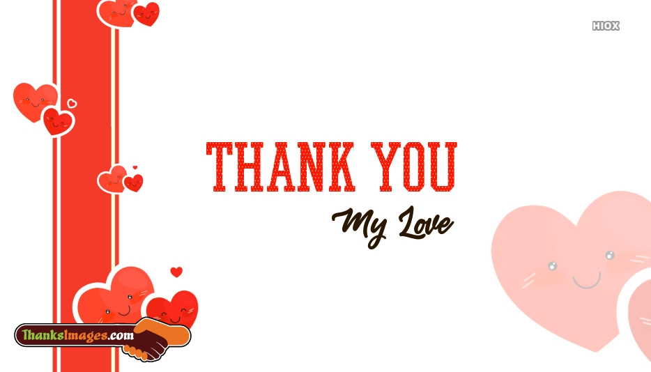 Thank You My Love Images