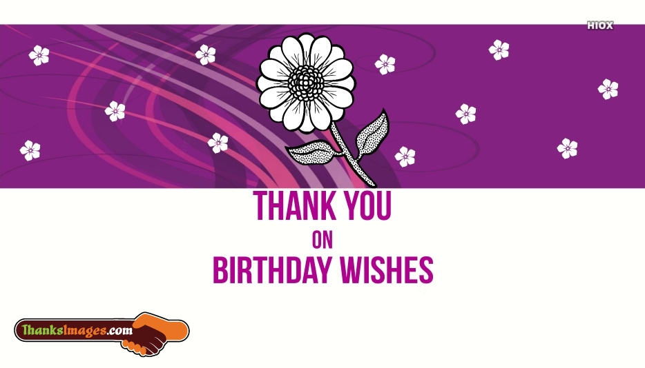 Thank You For Bday Wishes Images
