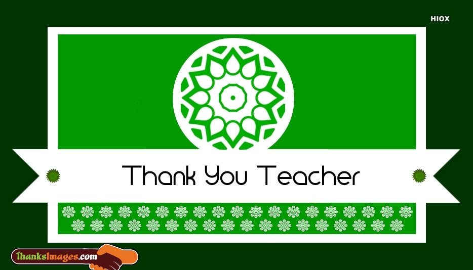 Thank You Images, Messages For Teachers