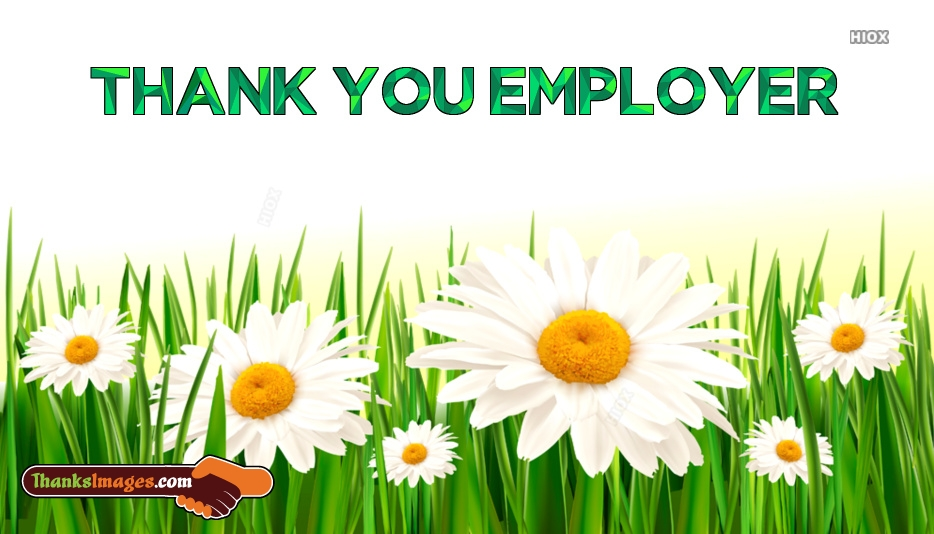 Thank You To Employer