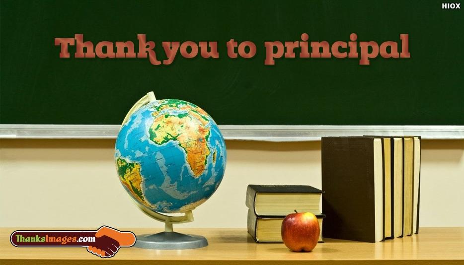 Thank You To Principal - Thanks Images for Principal
