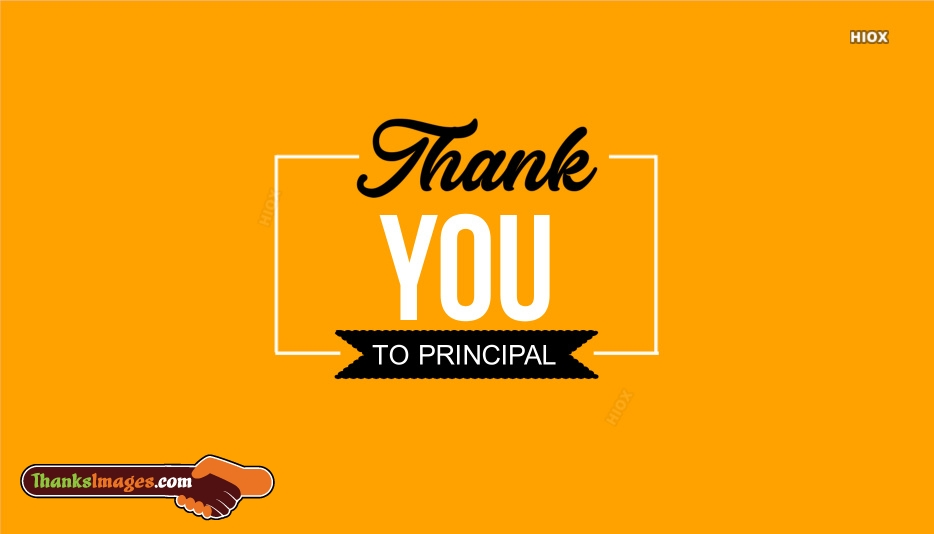 Thank You To Principal