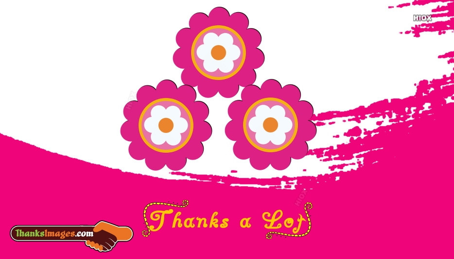 Thank You Pink Flowers Images