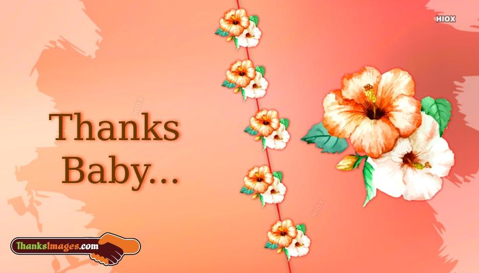 Thanks Baby