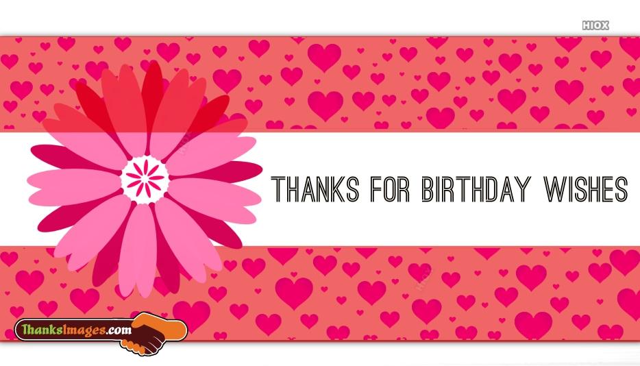 Thanks Birthday Wishes