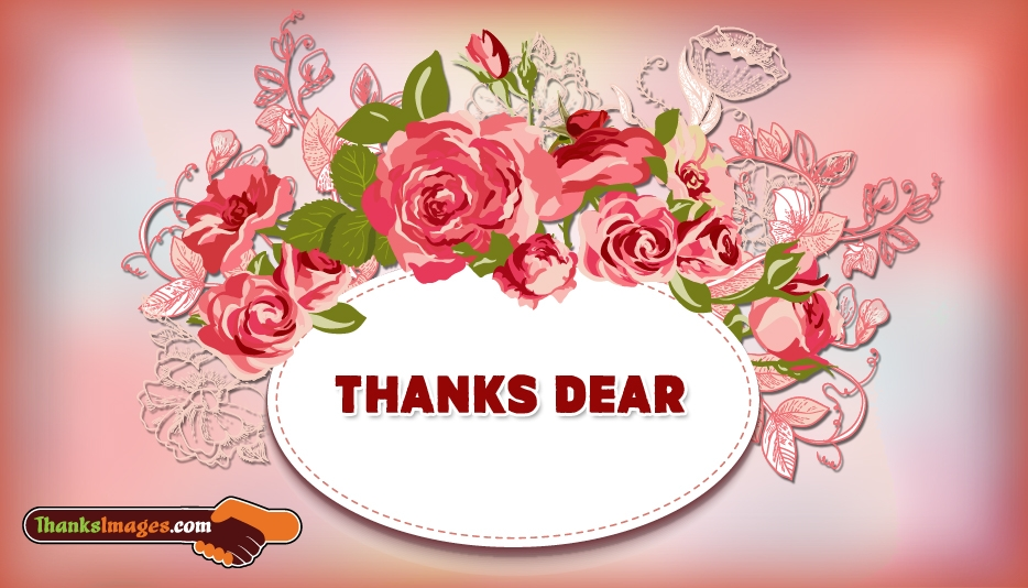Thanks Dear - Thanks Images for Lover