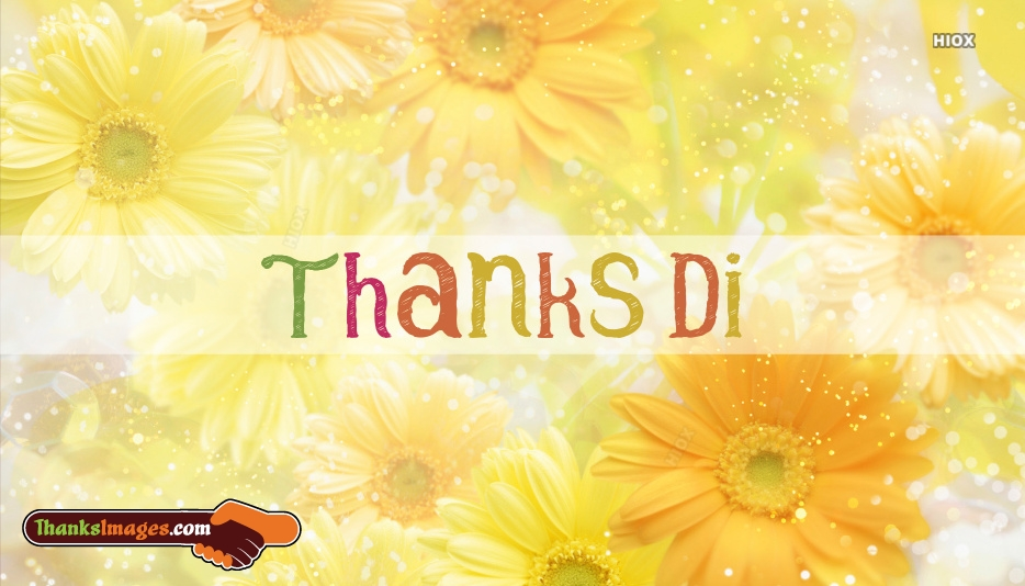 Thanks Di