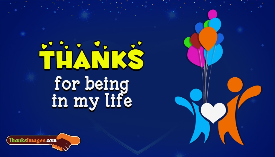 Thanks For Being In My Life - Thanks Images for Lover