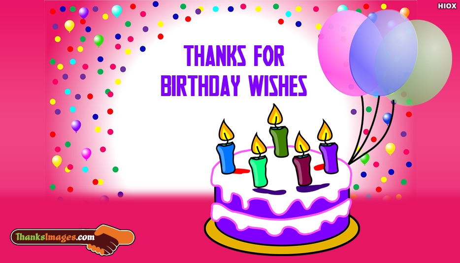Thanks For Birthday Wishes ThanksImagesCom – Thanks Birthday Greetings