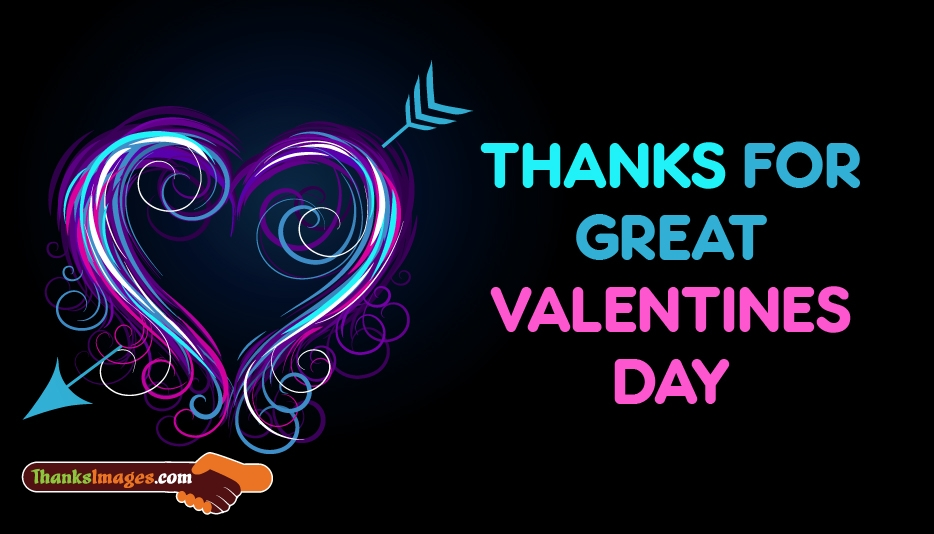 Thanks for Great Valentines Day - Valentines Day Thank You Images