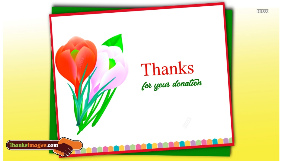 Thank You Images for Donation