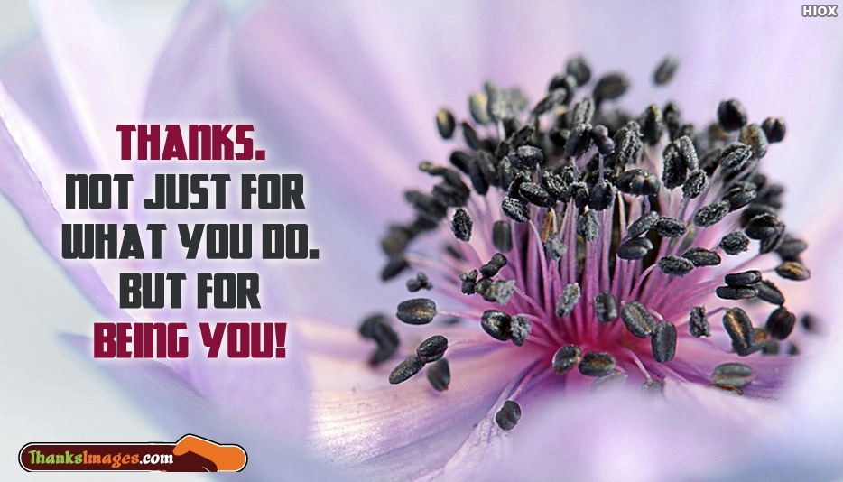 Thanks.... Not Just For What You Do...But For Being You! - Thanks Images for Hubby