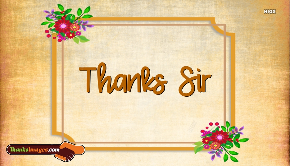 Thank You Images for Sir