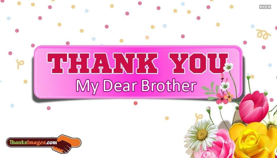 Thank You Images for Brother