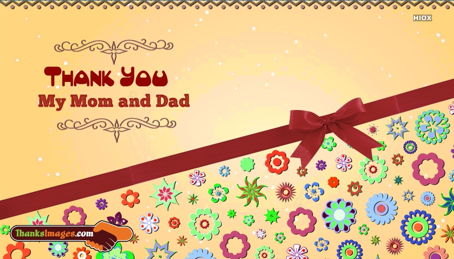 Thank You Images for Mom And Dad