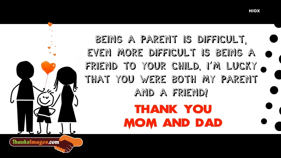 Thank You Images for Mother And Father