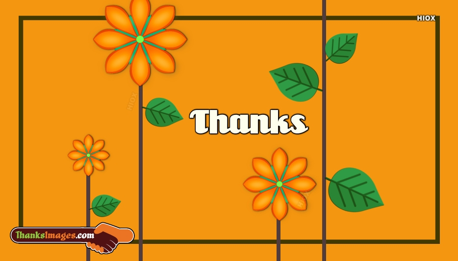 Thanks You With Flowers