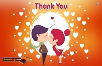 I Love U Pic With Thank You