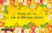 Thank You All For My Birthday Wishes