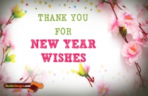 Thank You For New Year Wishes