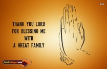 Thank You Lord For Blessing Me With A Great Family