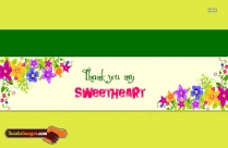 Thanks To My Sweetheart