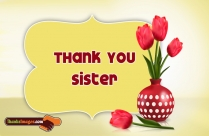 Thank You Sister Images With Quotes, Messages