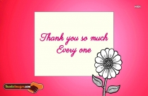 Thank You So Much Every One