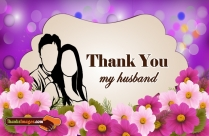 Heartfelt thank you card for husband