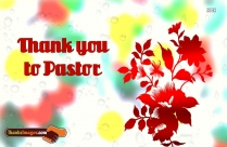 Thank You To Pastor