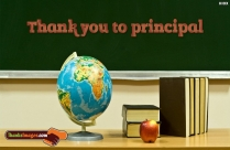 Thank You To Principal