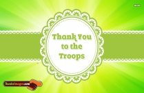 Thank You To The Troops