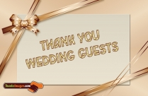Thank You To Wedding Guests