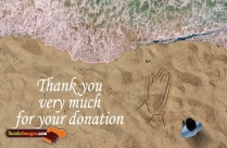 Thank You Very Much For Your Donation