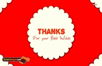 Thank You For Wishes Images