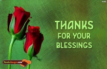 Thanks For Your Blessings
