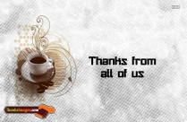 Thanks From All Of Us