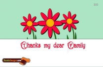 Thanks For Being Such As Caring Family