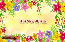 Thanks With Flowers Images