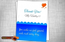 Thanks Quotes For Husband | You Make Me Feel Special Each And Every Day