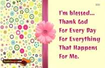 Thanks To God Quotes