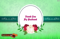 Thanks To My Husband