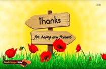 Thanks Greetings For Friends