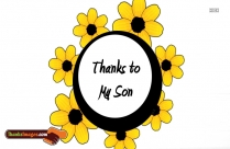Thanks To My Son