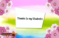Thanks To My Students